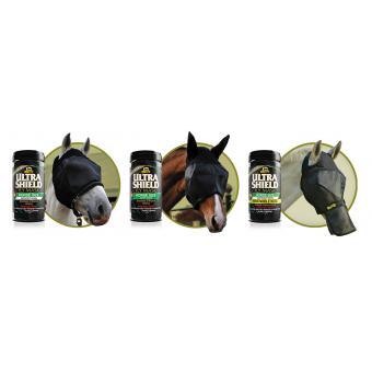 Maska proti hmyzu s ušima a prodloužením na nos Absorbine UltraShield